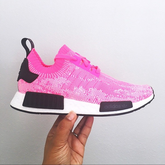 half off 2fff5 f68b2 Adidas NMD R1 PK W Bright Pink Shoes Women
